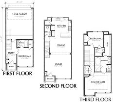 3 story floor plans exquisite design 3 story house plans bedroom townhouse floor plan