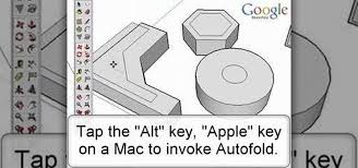 how to autofold with the move tool in google sketchup software