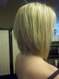 long bob hairstyles with low lights graduated long bob with extra light blonde highlights and