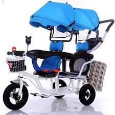 si e bebe velo 12 pouce 2 enfants tricycle jumeaux bébé vélo à siège
