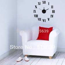 home decor hours diy wall clock sticker modern design clocks 3d stickers art time