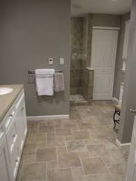 bathroom flooring ideas photos wide plank tile for bathroom great grey color great option if