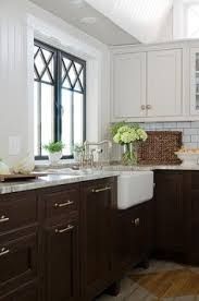 Fiddlehead Design Group Kitchens Dark Stained Cabinets White - Brown cabinets kitchen