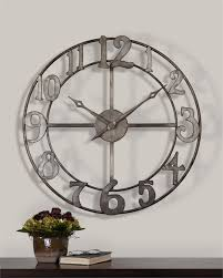 Uttermost Metal Wall Decor Uttermost Delevan Large Wall Clock With Open Design Wall Clocks