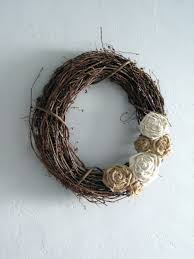 wreath w burlap flowers probably a use for the plain