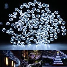100 outdoor solar led string lights summer solar string lights by firstlights 100 led warm white 39 feet
