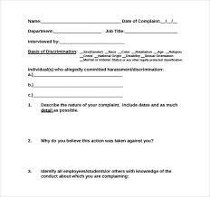 employee complaint form employee complaint investigation form