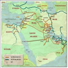 World Map Middle East by The Geopolitics Of Oil And Gas Pipelines In The Middle East