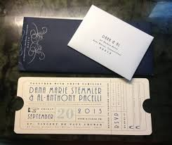 Single Card Wedding Invitations Wedding Invitation Looks Like An Old Train Ticket To Match My
