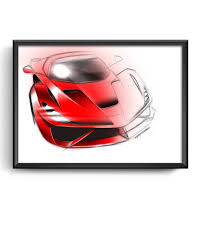 ferrari art ferrari art poster and photo prints simply petrol fine car art