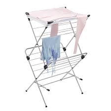 sweater drying rack polder 2 tier mesh top clothes drying rack the container store