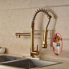 Compare Prices On Kitchen Faucet by Cornet Gold Finish Kitchen Sink Faucet With Dual Spouts Cover