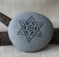 star of david home decor paperweight art collections