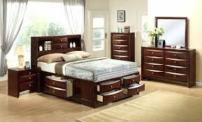 bed night stands elements queen storage bed two nightstands free