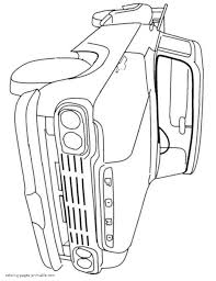 pickup truck history in pictures coloring pages