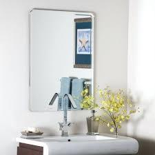 Frameless Bathroom Mirror Large Wall Ideas Large Framesless Wall Mirror Large Frameless Wall