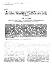 tracing contemporary africa u0027s conflict situation to colonialism a