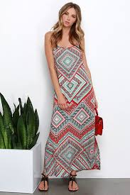 tribal dress print dress maxi dress tribal print dress 89 00