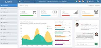kadmin u2013 free responsive admin dashboard template design