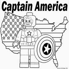 Coloriage lego marvel captain america  JeColoriecom