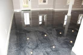 Basement Floor Finishing Ideas Metallic Epoxy Basement Floor Living Room