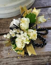 Black And White Corsage Prom Flowers The Classic White Rose Corsage