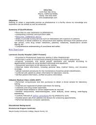 Sample Of Skills In Resume by Phlebotomy Resume Includes Skills Experience Educational