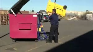 how to use the nifty lift wheelie bin tipper youtube