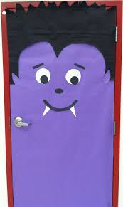 vampire door at halloween bulletin board idea bulletin