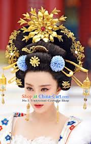 ancient tang dynasty empress hair wig hair accessories