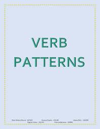 verb pattern hesitate calaméo verb patterns