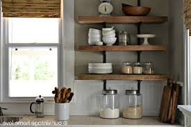open kitchen shelves decorating ideas round leather barstools
