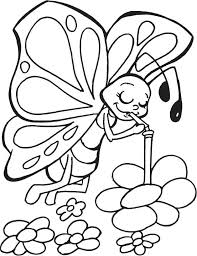 free printable coloring pages flowers and butterflies luxury