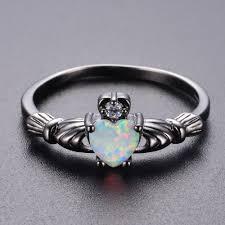 fire opal rings images Knock charming heart shape fire opal rings for women letsrush jpg