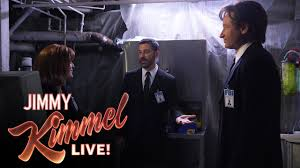 mulder scully and jimmy kimmel in the x files youtube