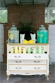 drink station ideas mint and yellow wedding backyard reception