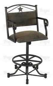 Bar Stool With Arms Furniture Texan Swivel Tilt Bar Stool With Arms
