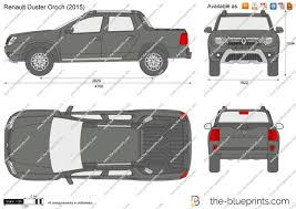 renault duster oroch the blueprints com vector drawing renault duster oroch