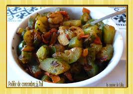 cuisiner concombre poêlée de concombres à l ail la cuisine de lilly
