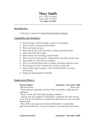 General Labor Resume Samples by Kitchen Staff Resume Targeted Resume Template Kitchen Staff