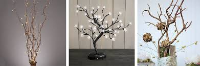 lighted willow branches lighted branches twigs trees wedding lights decorations