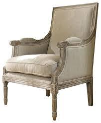 Wooden Accent Chair Farmhouse Armchair Plantation Beach Lounge Chair Sand Linen