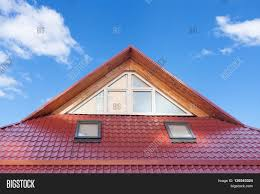 Dormers Roof Red Metal Tiled Roof New Dormers Image U0026 Photo Bigstock