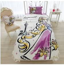 Tangled Bedding Set Disney Rapunzel Duvet Cover Sheets Pillow Three