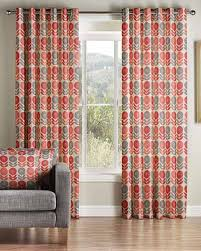 Orange Patterned Curtains Gorgeous Ready Made Curtains