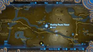 Twin Peaks Map The Legend Of Zelda Breath Of The Wild Shrine Locations And