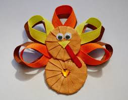 thanksgiving hair bows turkey ribbon sculpture thanksgiving hair clip bow diy