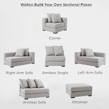 Sectional Loveseat Sofa Build Your Own Walton Sectional Pieces West Elm