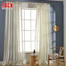 modern striped window tulle curtains for living room golden