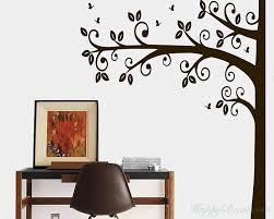 half tree wall decal nursery vinyl tree stickers